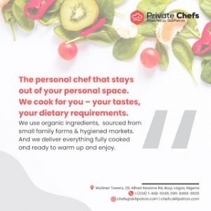 "Jake Adebayo's SkillPatron Launches an ""on-demand' Personal & Private Chef For Hire Service in Africa"